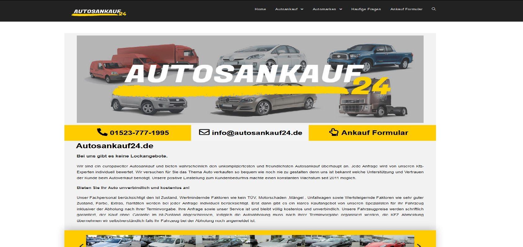 autosankauf24.de Autoankauf Freiburg