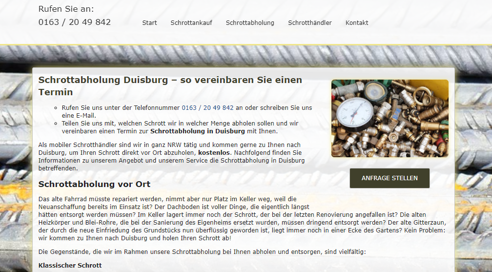 image 1 130 - Schrottabholung in Duisburg von Privat und Gewerbe