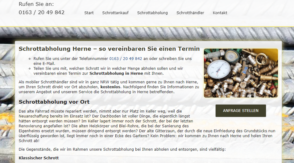 image 1 131 - Schrottabholung Herne : ist Ihr Experte und Partner für Schrottankauf, Schrottabholung,