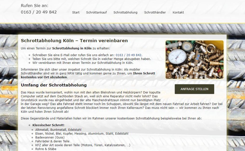 image 1 142 - Schrottabholung Köln : Wir sind spezialisiert auf den Handel mit Schrotten und metallen sowie Metallrecycling