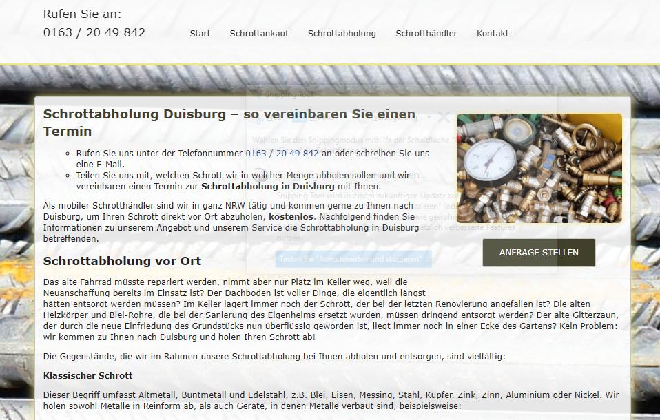 image 1 182 - Kostenlose Schrottabholung in Duisburg zum Wunschtermin