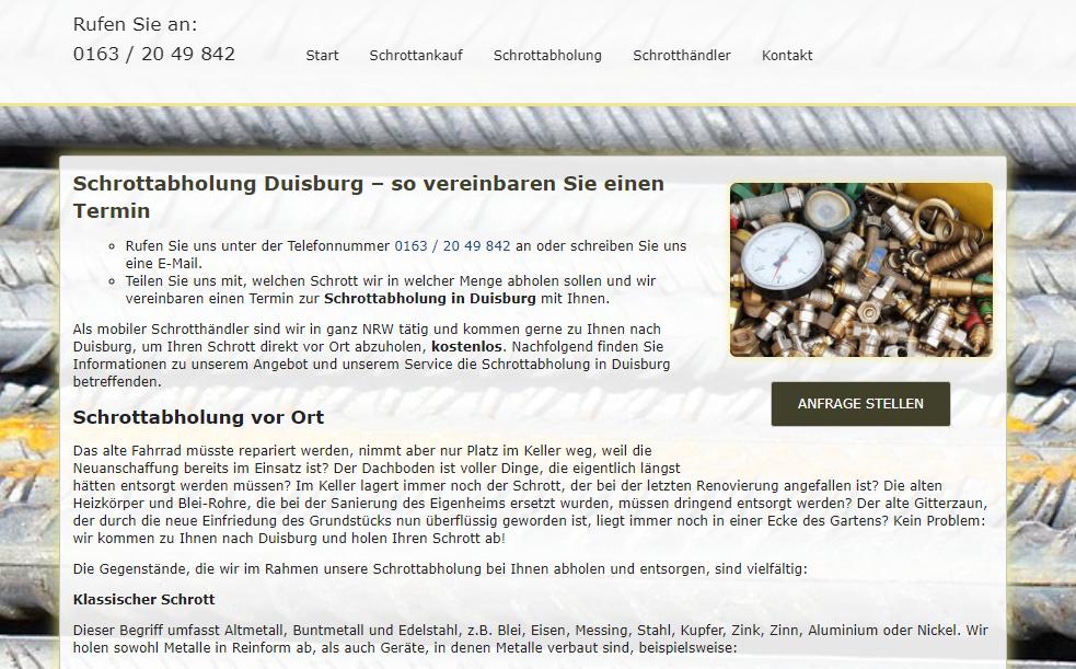 image 1 47 - Die Schrottabholung Duisburg erledigt zuverlässig sämtliche Schrottabholungen und Demontagen und bietet außerdem einen Ankauf