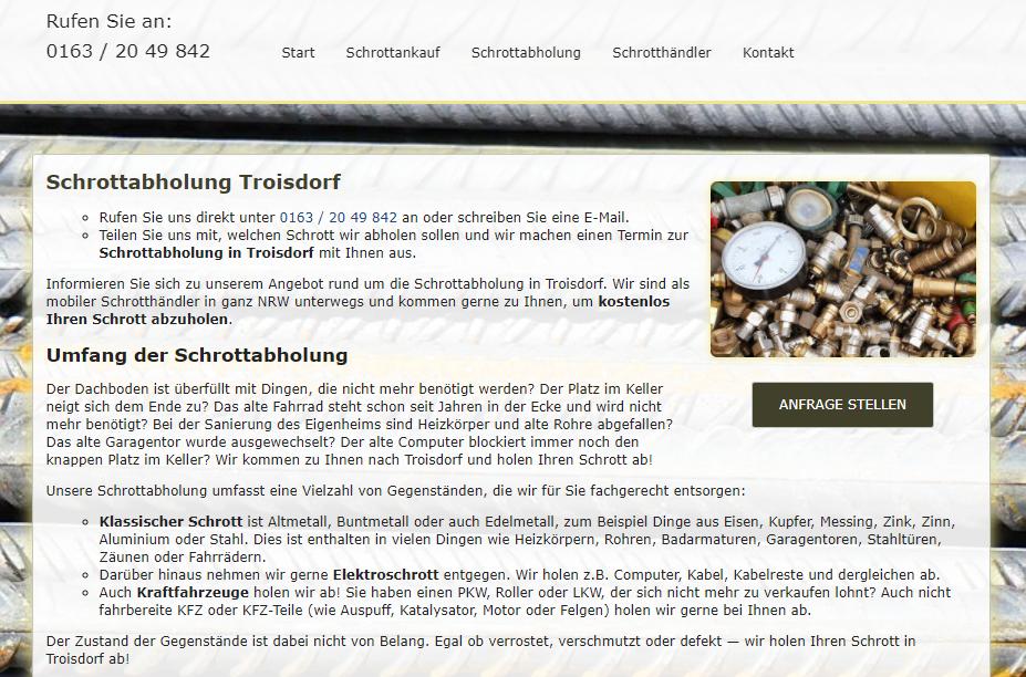image 1 93 - Altmetall abholen in Troisdorf : Wir holen ihr Altmetall gerne ab