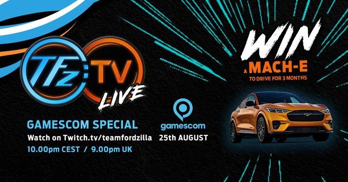 image 1 91 - Team Fordzilla mit eigener Show live zur virtuellen Gamescom 2021 - Ford Mustang Mach-E GT zu gewinnen