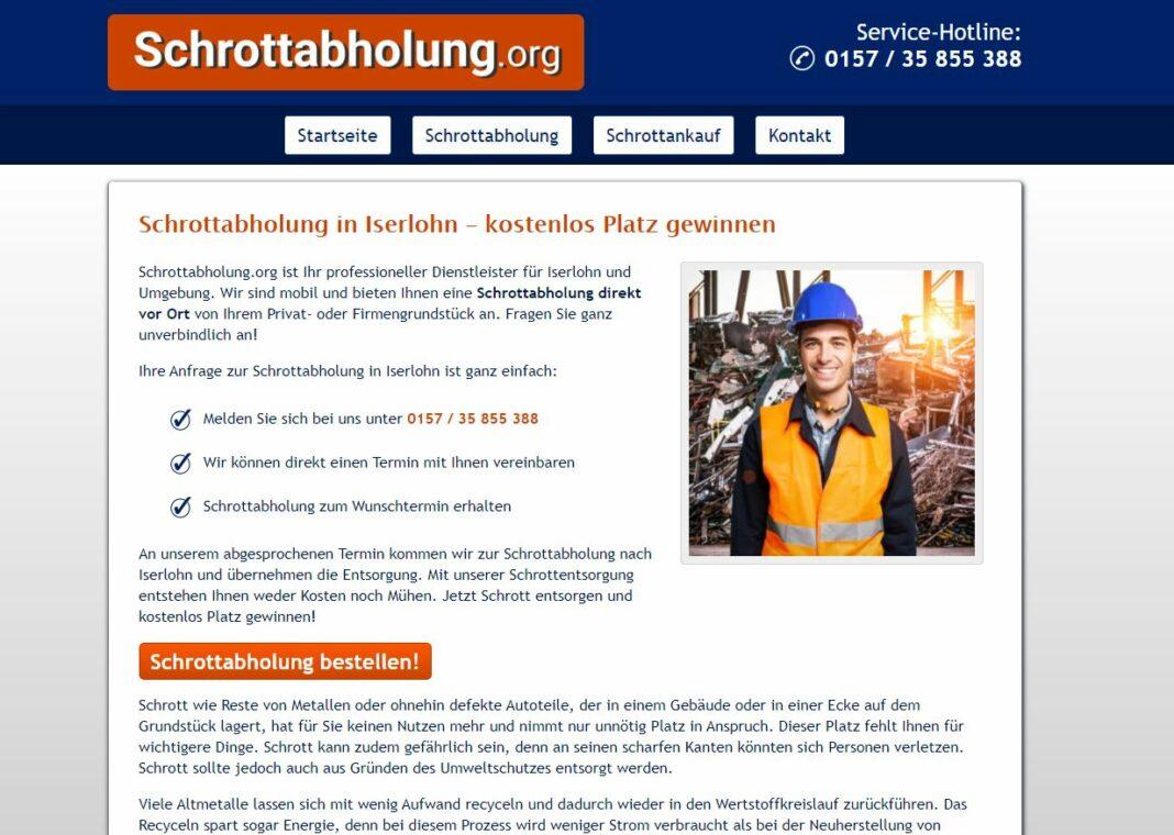image 1 220 1068x760 - Schrottabholung Iserlohn und dem Recycling in NRW