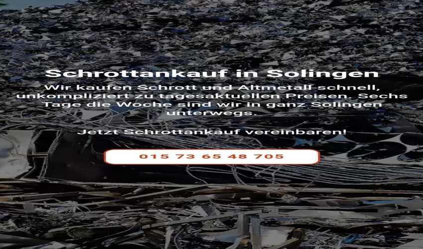 image 1 7 - Schrottankauf Solingen fairen Preisen verkaufen – schnell und unkompliziert