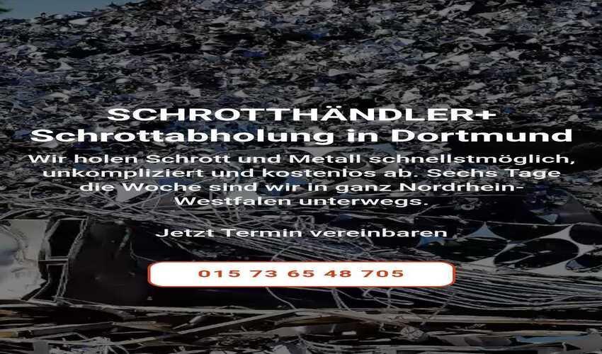 image 1 9 - Schrottabholung in Dortmund und Umgebung wir holen schrott kostenlos ab Direkt vor Ort